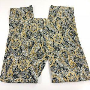 Zara • Yellow Paisley Wide Leg Loose Pants 396
